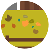 Leaf litter icon