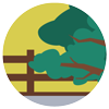 Overhanging tree icon