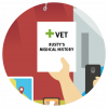 Pet medical record icon
