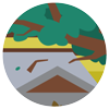 Roof leaf litter icon