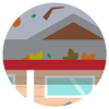 Gutter leaf litter icon