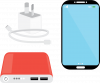 Mobile phone and charger icon
