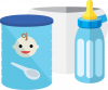 Baby supplies icon