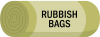 Rubbish bags icon