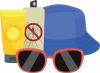 Sunglasses and hat icon