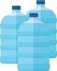Water bottles icon
