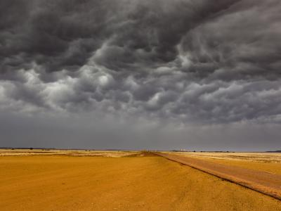 Storm clouds over Birdsville