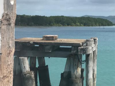 Jetty and water Torres Strait