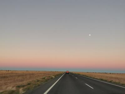 Outback highway at dusk