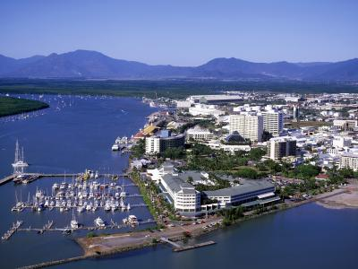 Aerial shot of Cairns
