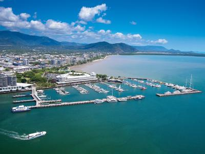 Aerial photo of Cairns marina
